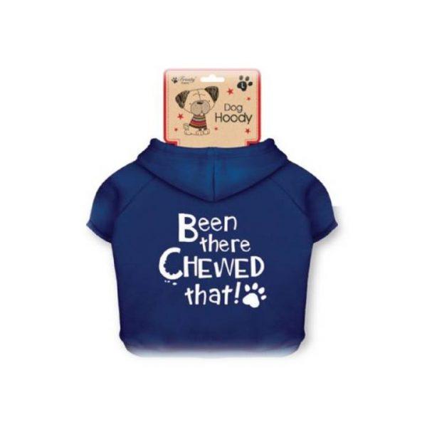 cute blue dog hoodie