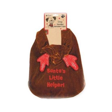hooded doggie reindeer cape
