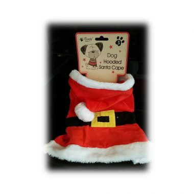 hooded doggie santa cape