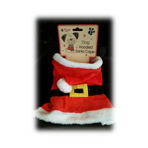 hooded doggie santa cape